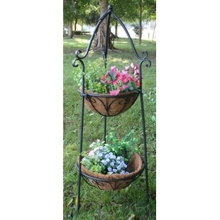 Two Tier Metal Plant Stand