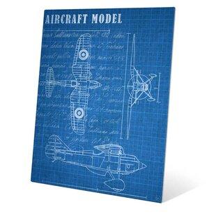 Framed blueprint art wayfair aircraft blueprint graphic art malvernweather Gallery