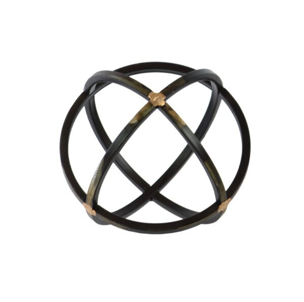 Brayden Studio Helfrich Orb Dyson Sphere Design Metal Sculpture With