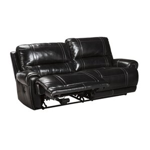Paron Leather Reclining Sofa by Signature De..