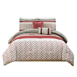Makale Embroidered 5 Piece Comforter Set