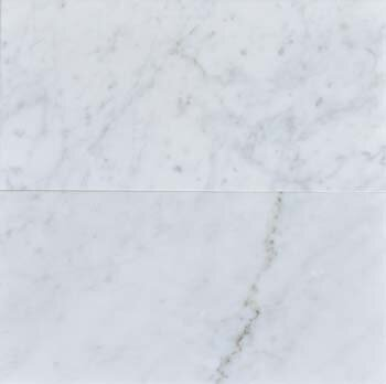 The Bella Collection Carrara 6 x 12 Honed Marble Subway Tile in