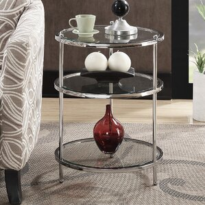 Tressie Round End Table by..