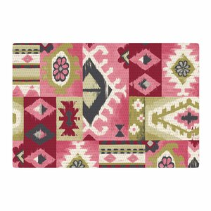 Jacqueline Milton Tribal Patch Painting Red/Pink Area Rug