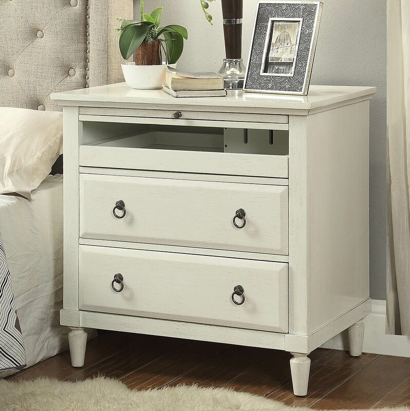 Hamon 2 Drawer Nightstand With Charging Station