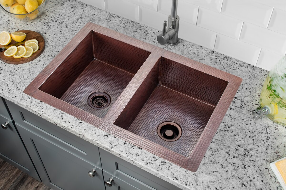 28   x 16   double bowl kitchen sink soleil 28   x 16   double bowl kitchen sink  u0026 reviews   wayfair  rh   wayfair com
