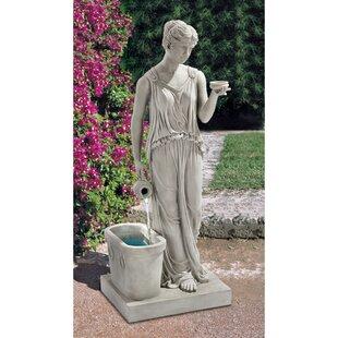 Resin Goddess Of Youth Garden Fountain