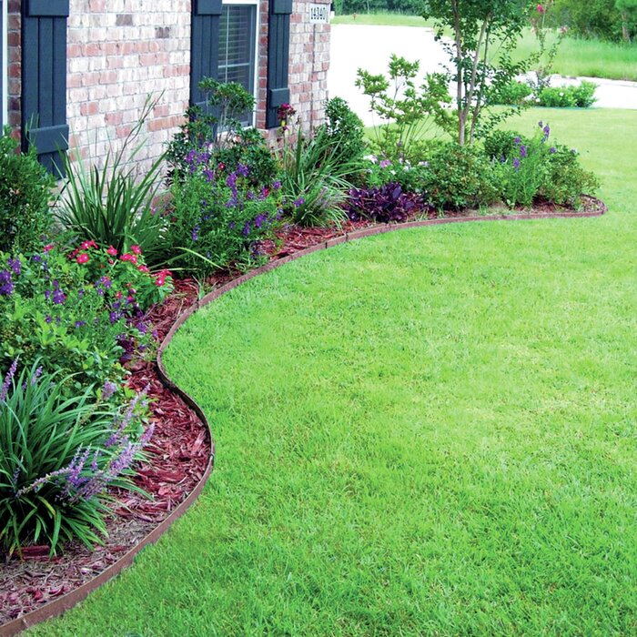 20 ft  W Ceder and Brow Premium Lawn Edging