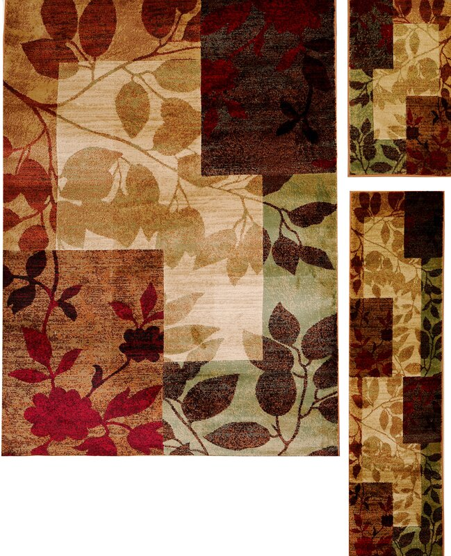 Andover Mills Raffin Beige Brown Leaves Area Rug Amp Reviews