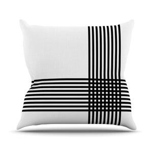 Krizanje by Trebam Minimal Lines Throw Pillow