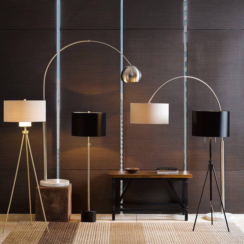 Manhattan 77 Quot Arched Floor Lamp Amp Reviews Allmodern