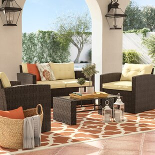 Raven 4 Piece Loveseat Set With Cushions