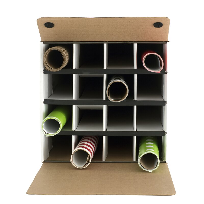 Charmant Document And Gift Wrap Paper Roll Storage Organizer