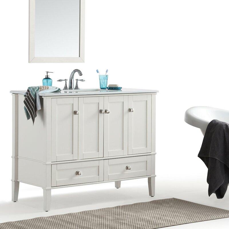 Simpli Home Chelsea 43 Single Bathroom Vanity Set Reviews