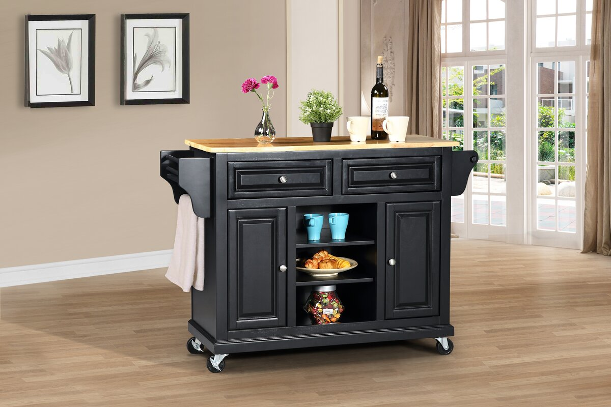 Wildon Home ® Kitchen Island with Solid Wood Top & Reviews | Wayfair