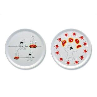 A du Alessi - Dream Factory 12.2\  Pizza Plates by Massimo Giacon (Set of 2)  sc 1 st  Wayfair & Plates \u0026 Saucers You\u0027ll Love | Wayfair