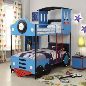 car & fire truck themed bunk & loft beds you'll love | wayfair