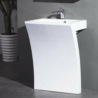 Kube Bath Sette 24 Pedestal Bathroom Sink with Overflow Reviews