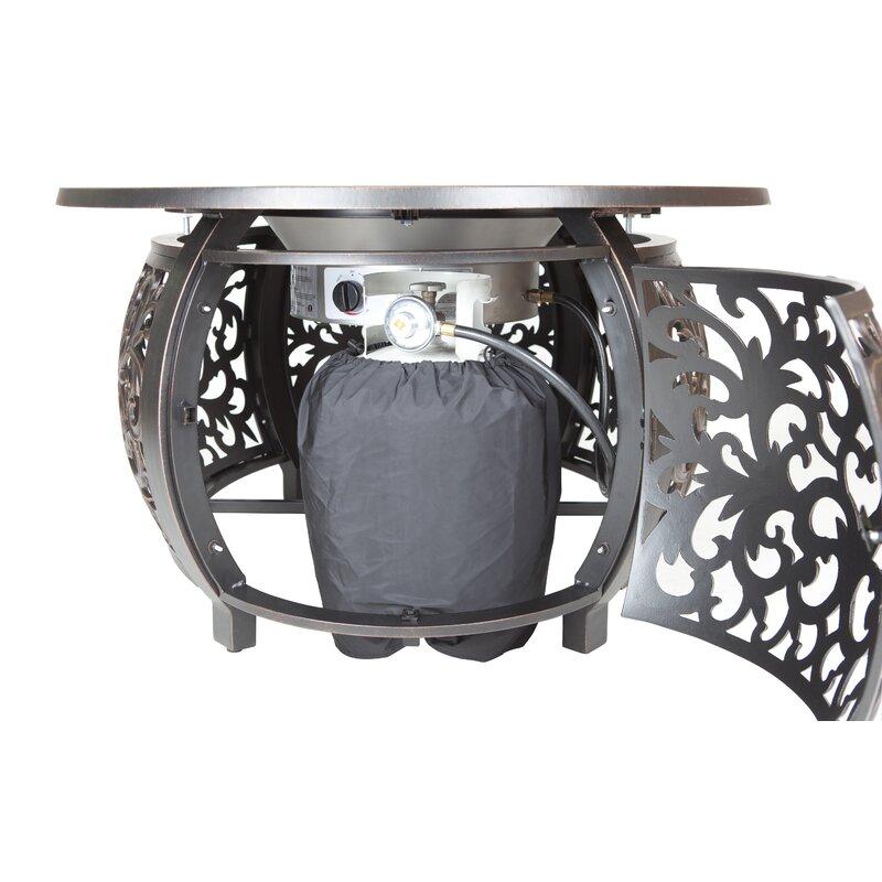 Toulon Aluminum Propane Fire Pit Table