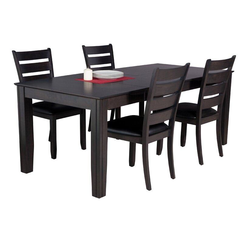 Avangeline 5 Piece Dining Set with Rectangular Table