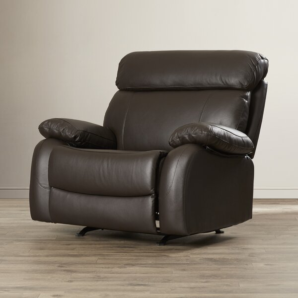 Red Barrel Studio Lavallie Leather Manual Glider Recliner