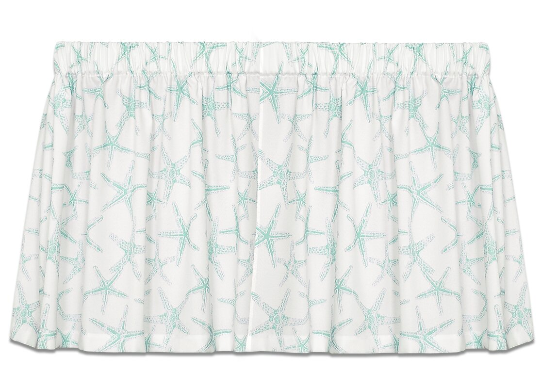 "Coastal Sea Shore Starfish 52"" Tie-Up Curtain Valance"