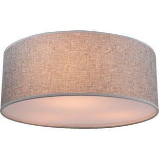 Fabric ceiling flush lights wayfair save to idea board aloadofball Images