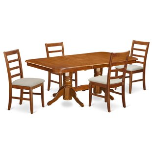 Pillsbury Contemporary 5 Piece Wood Dining Set