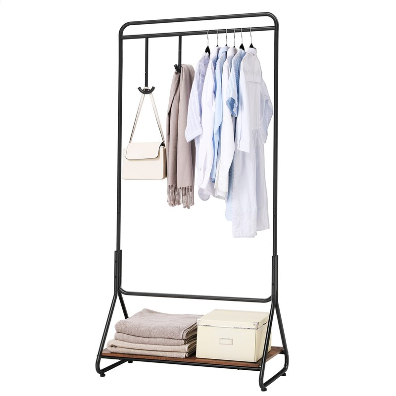 Home Furniture Furniture Loyal Living Room Furniture Double Folding Metal Coat Rack Clothes Rail Hanging Garment Dress On Wheels Shoe Rack Bedroom Wardrobe To Suit The PeopleS Convenience