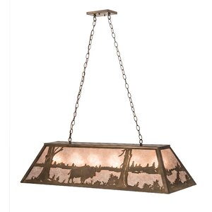 Buffalo at Lake 9-Light Pendant