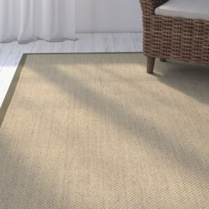 Richmond Hand-Woven Natural/Green Area Rug