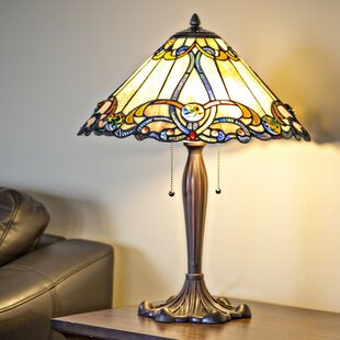 Table lamps stained glass wayfair crayton stained glass 255 table lamp aloadofball Gallery