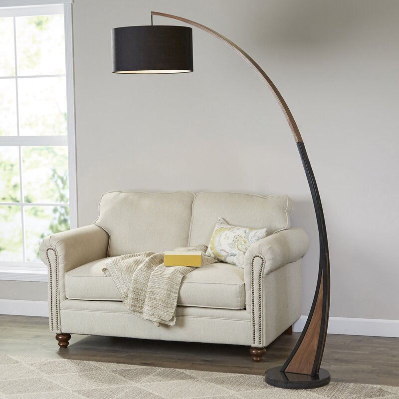 Mikonos 77 Quot Led Arched Floor Lamp Amp Reviews Allmodern