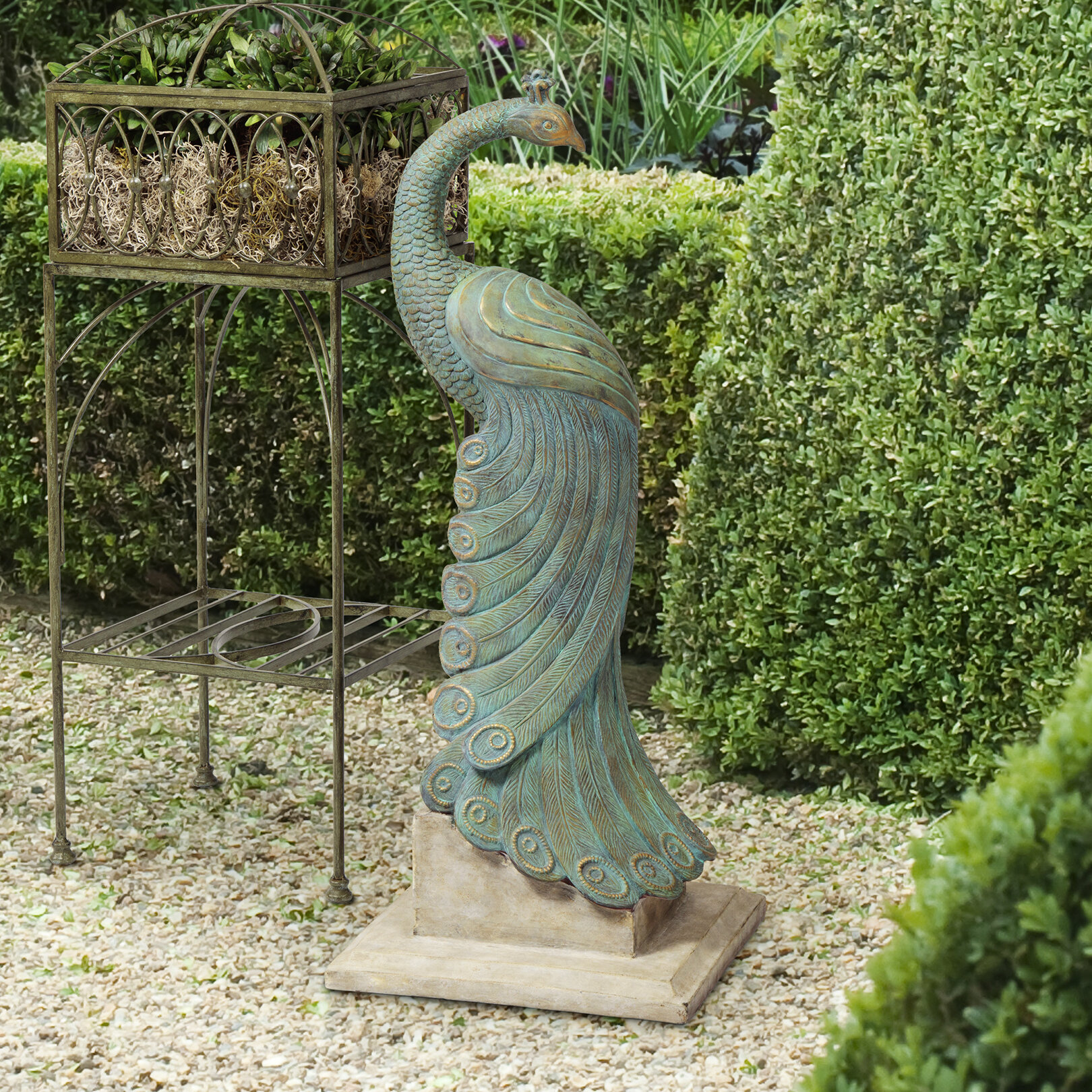 BombayOutdoors Royal Peacock Statue U0026 Reviews | Wayfair