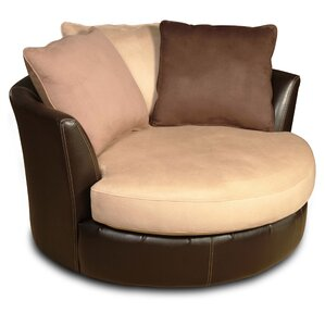Newport Swivel Barrel Chair by Latitude Run
