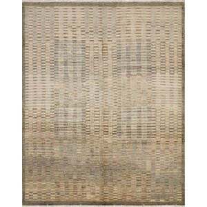One-of-a-Kind Lauterbach Hand Knotted Oriental Wool Green Area Rug