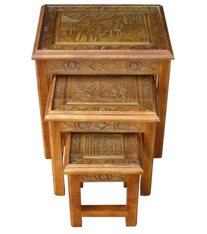 Astoria grand abrams chinese carved 3 piece nest of tables reviews abrams chinese carved 3 piece nest of tables watchthetrailerfo