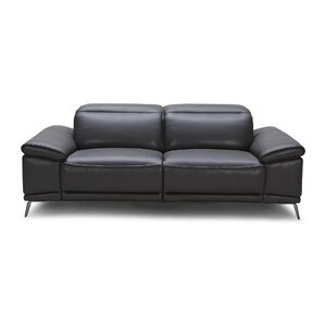 Carnegie Leather Reclining Loveseat by Wade Logan