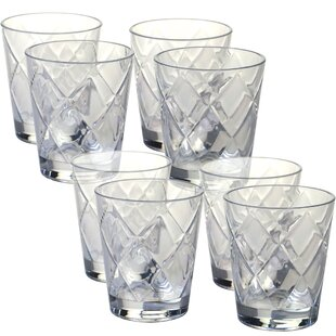 e7b0d1569412 Diamond Acrylic 15 Oz. Old Fashioned Glasses (Set of 8). by Certified  International