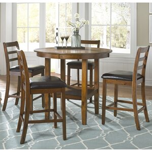 Dunlap 5 Piece Pub Table Set by Darby Home Co