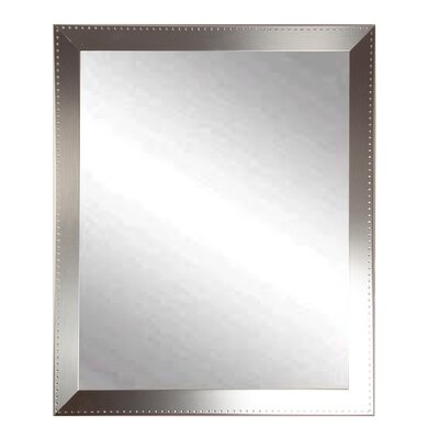 BrandtWorksLLC Embossed Steel Modern & Contemporary Wall Mirror Size: 53.5 H x 30.5 W x 0.19 D