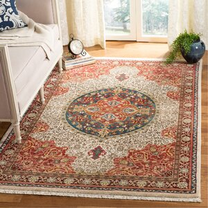 Murphy Ivory/Red Area Rug