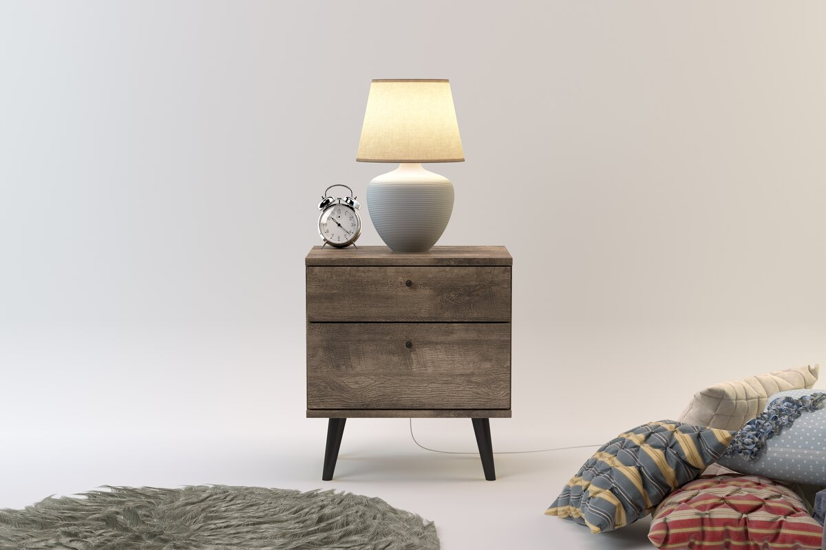 Langley Street Norloti 2 Drawer Nightstand & Reviews