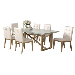 Anguiano 7 Piece Dining Set by Everly Quinn