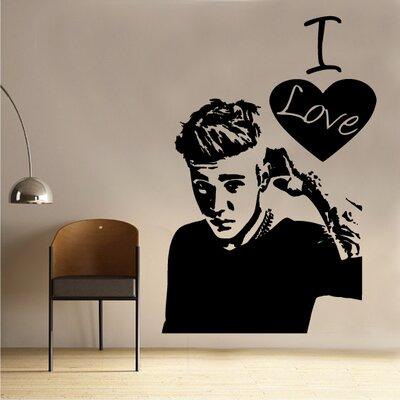 Kult Kanvas Wandtattoo I Love Justin Bieber Wayfairde