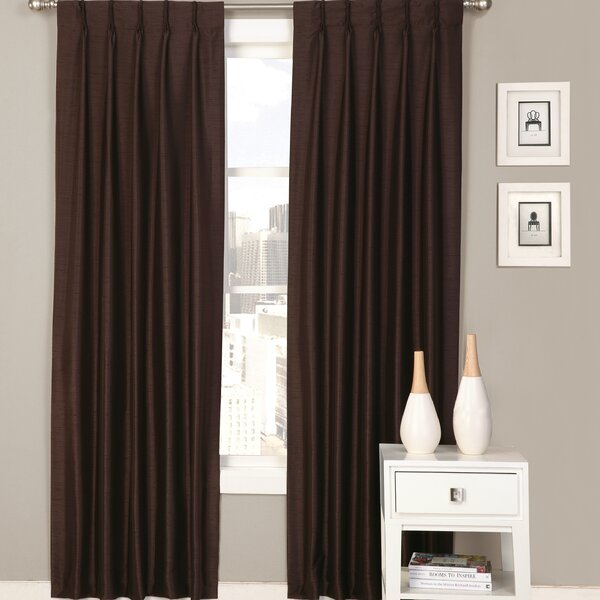 ultimate luxury palace solid semisheer pinch pleat curtain panels u0026 reviews wayfair