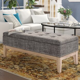 Lewistown Tufted Mid Century Upholstered Storage Bench
