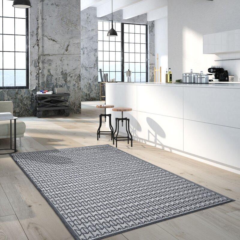 floorita innen au enteppich skandi look in anthrazit. Black Bedroom Furniture Sets. Home Design Ideas