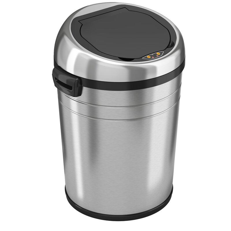 Stainless Steel 18 Gallon Motion Sensor Trash Can - motion sensor kitchen trash can