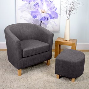 Jamie Tub Chair and Footstool